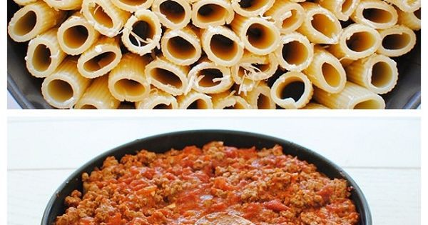 Rigatoni, Rigatoni pasta pie and Pasta pie on Pinterest