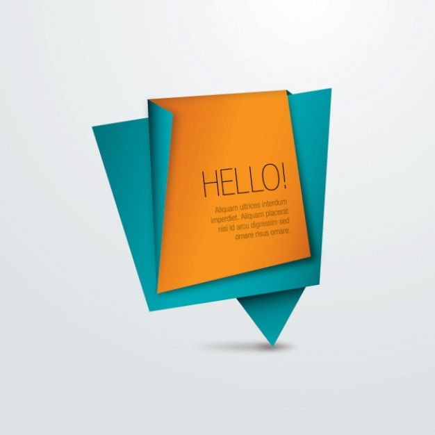 Origami Paper Message Background Banner Interactive Design