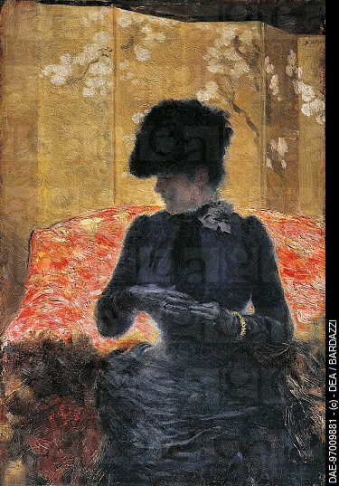 Giuseppe De Nittis: The Woman on the Red Couch - Google Search