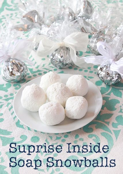 Soap Snowballs with a Surprise Inside - Pretty Handy Girl