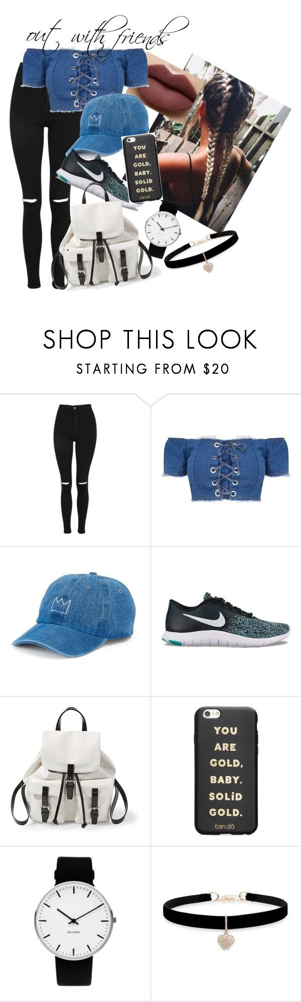 """""""out with the squad"""" by shan-zie on Polyvore featuring Morphe, Topshop, SO, NIKE, Steve Madden, ban.do, Rosendahl and Betsey Johnson"""