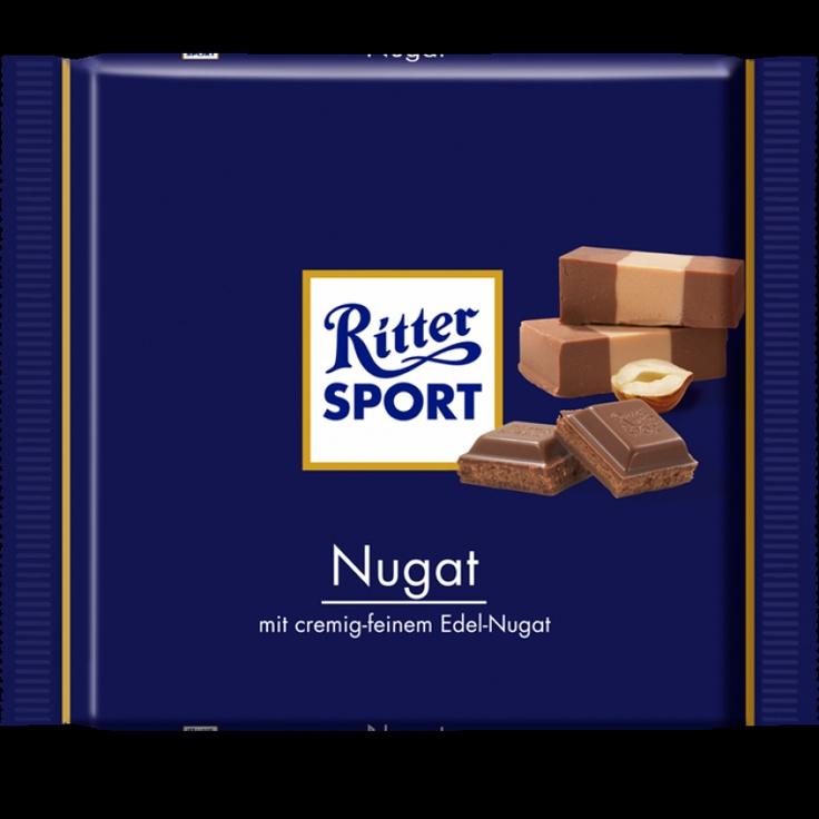 RITTER SPORT Nugat Schokolade  My favorite chocolate :-)