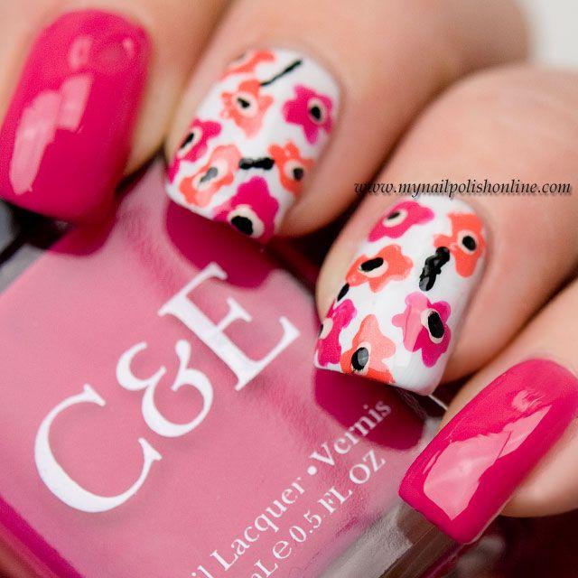 Nail Art - Marimekko #nails #nailart #marimekko