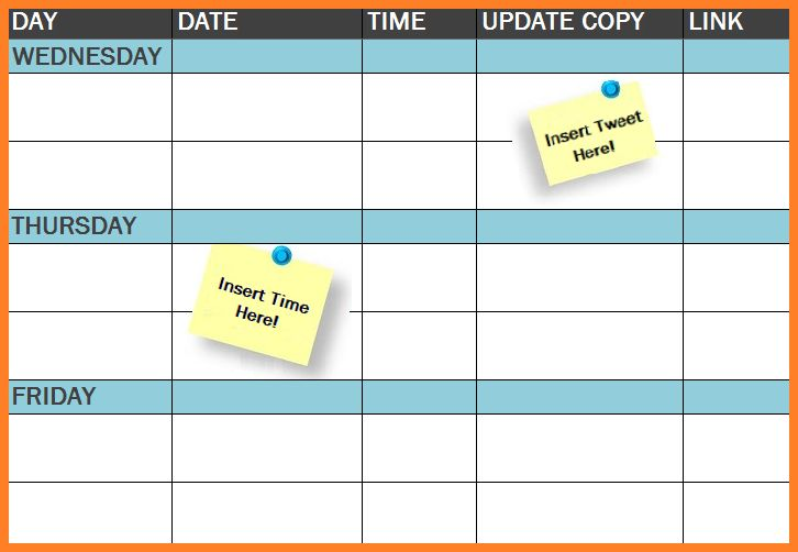 Free Template: The Social Media Publishing Schedule...   An Easy-to-Use Excel Template for Managing Your Social Media