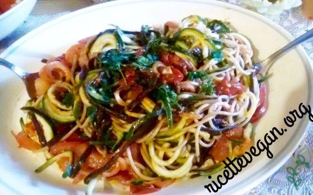 Spaghetti mare e monti vegan.. #vegan #vegano #ricettevegan #primiveg