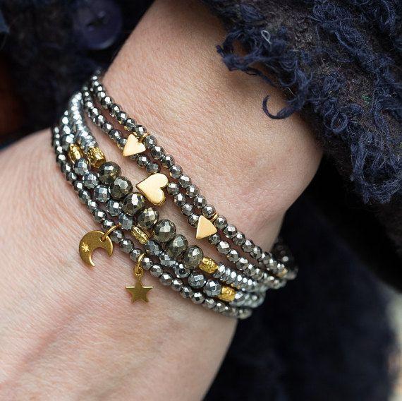 Stack Bracelets Set of Five Bracelets Boho by AlisonStorryJewelry