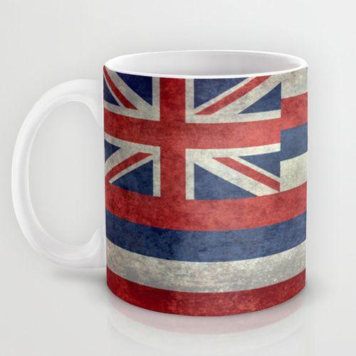 The State flag of Hawaii - Vintage version Mug by BruceStanfieldArtist North America   Society6  #Hawaii #flag #Hawaiianflag #vintage #retro