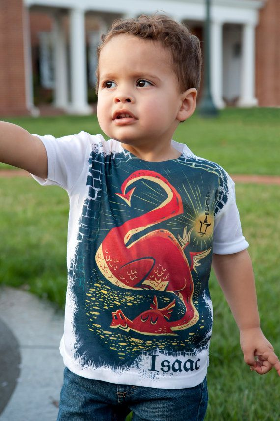 Hobbit Dragon Toddler Shirt, Personalized Boys Clothing