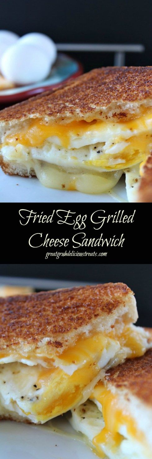 Fried Egg Grilled Cheese Sandwich with sausage patties