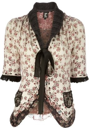 Tricot Chic Floral cardigan