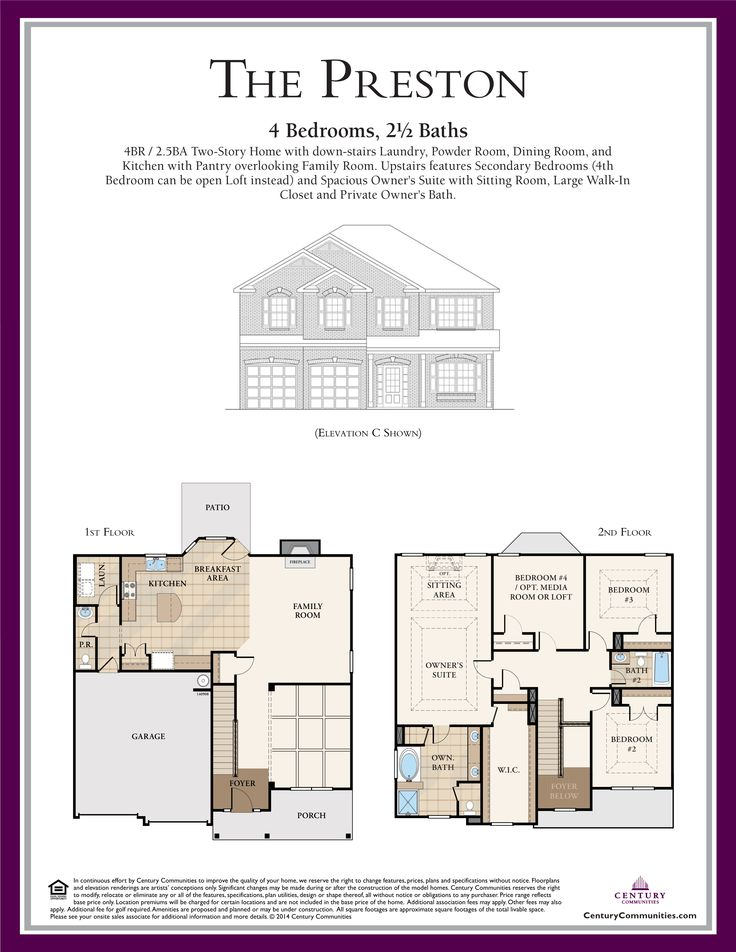 The Preston Floor Plan Is A 4br 2 5ba Two Story Home
