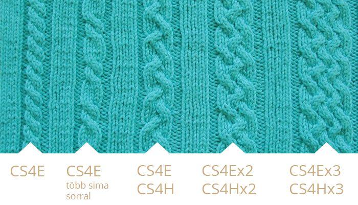 Csavart minta leírása Cable stitch patterns