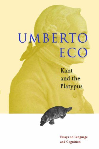 kant and the platypus essay on language and cognition Editions for kant and the platypus: essays on language and cognition: 015601159x (paperback published in 2000), 009927695x (paperback published in 2000).