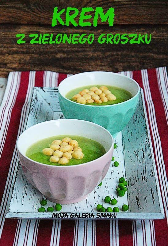 Krem z zielonego groszku