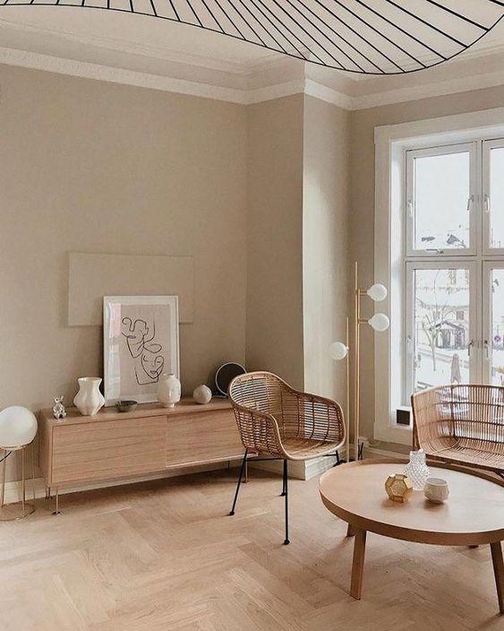 Modern Living Room Beige Living Rooms House Interior Interior Living room decor beige walls