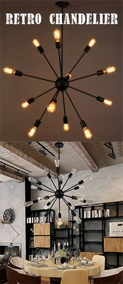Retro-Vintage Edison Bulb Chandelier. Makes a statement in the room without costing an arm and a leg.