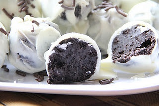 Oreo Balls.  I repeat.  Oreo Balls.  Super easy and only 3 ingredients!