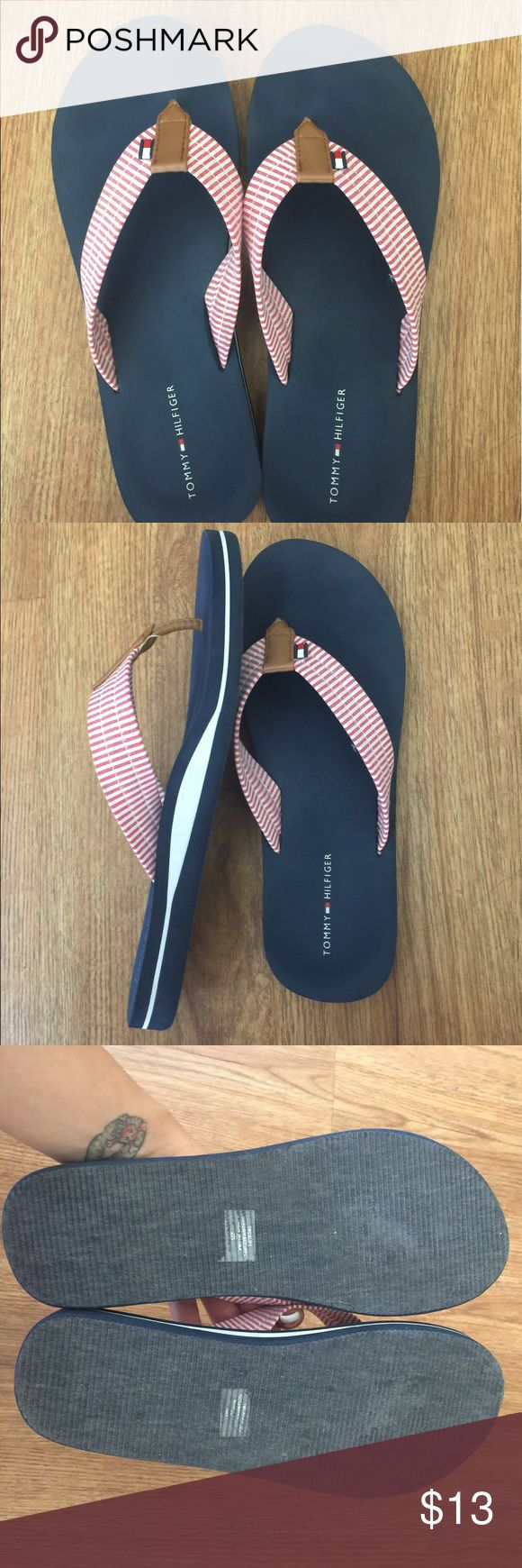Flip flops Nautical flip flops in like new condition. Tommy Hilfiger Shoes Sandals