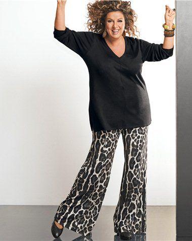 mode grande taille pantalon marianne james imprimé léopard Les imprimés léopard et panthère sinvitent dans la mode grande taille