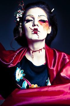 scary geisha costume - Google Search                                                                                                                                                     More