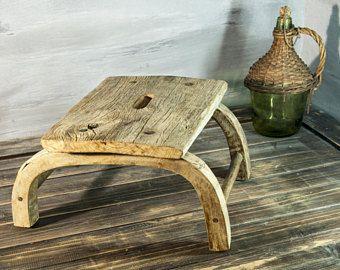 Taburete rústico, primitivo taburete taburete lechera, antigüedades de casa de campo, granja de Wisconsin, taburete antiguo primitivo, casa rural chic