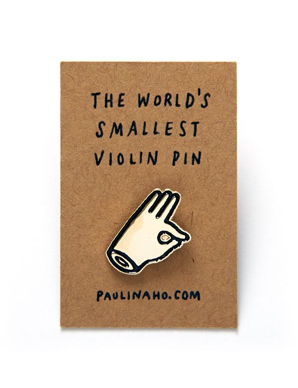 The product World's Smallest Violin Pin is sold by Shop by Paulina in our Tictail store. Tictail lets you create a beautiful online store for free - tictail.com