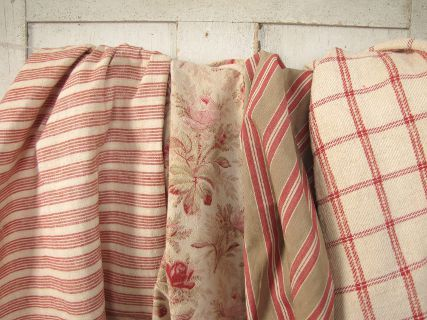 Vintage French country style ~ lovely textiles from France ~ simply and wonderful for upholstery, pillows etc ~