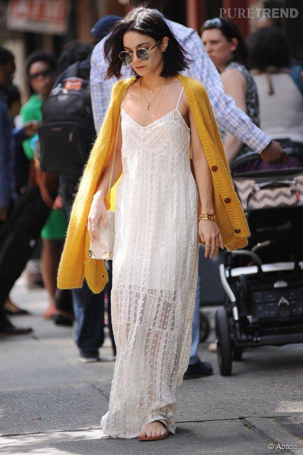 #Look : Vanessa Hudgens - robe transparente et bohème... le combo à copier !