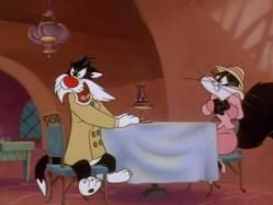Sylvester and Bugs Bunny