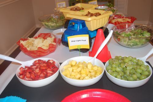 """""""Stoplight Fruit"""" - cute idea for a cars and trucks party"""