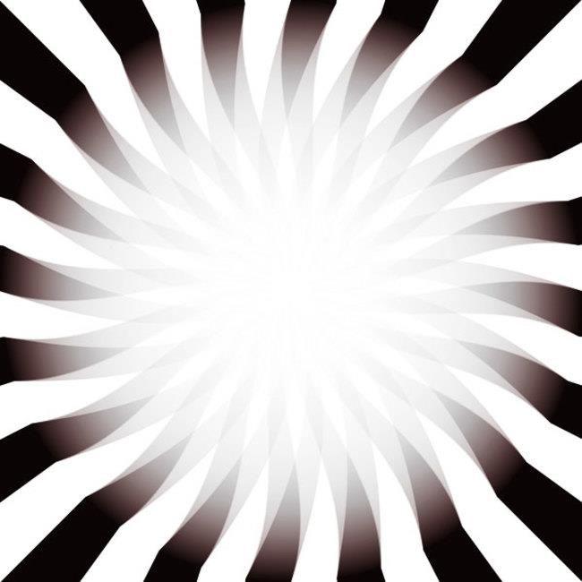 Aproxime sua cabeça da tela e você verá a luz bem mais forte. Depois, afaste-a e você verá que a luz fica fraca.