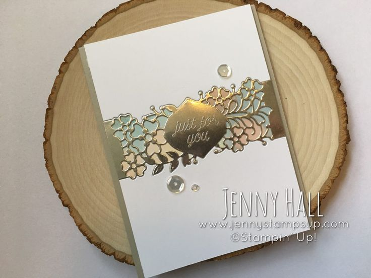 So Detailed Thinlits die Belly Band as an inlay card with video :: Jenny Hall