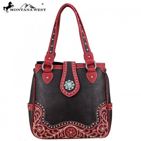 WESTERN CONCHO HANDBAG - COFFEE
