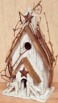 White Washed Bird House