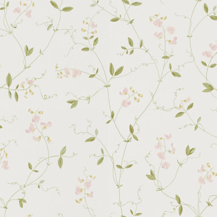 Airy, fragrant sweet peas that trail their way up the wall. A wonderful, light wallpaper, perfect for a romantic bedroom, where summer lasts all year long.