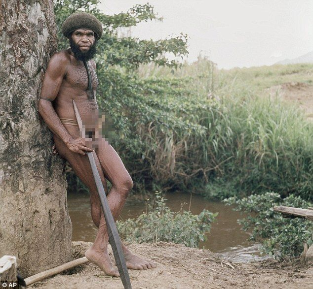 This a 1973 photo of war chief Ajam, of the Dani Tribe of New Guinea, who told missionaries he killed U.S. anthropologist Michael Rockefeller in 1961, and was one of the tribesmen who ate parts of his body.