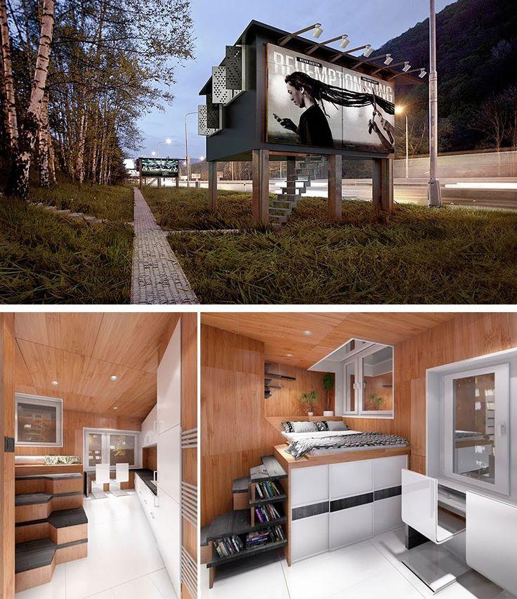 Billboards - Little Shelter Houses For The Homeless