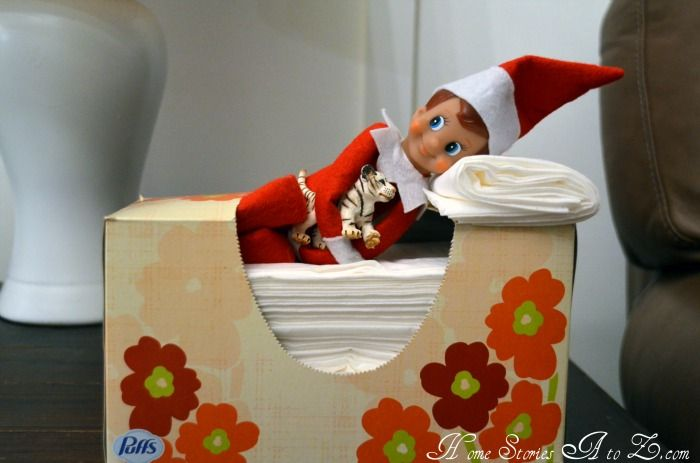 elf on the shelf ideasHoliday, Beds, Shelves, Elf On Shelf, Christmas, Tissue Boxes, Naps Time, Shelf Ideas, Kleenex Boxes