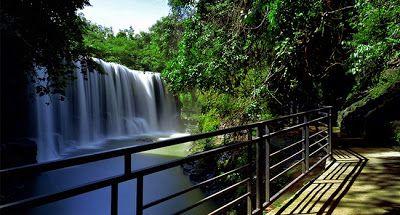 PERGIPEDIA  - Pesona Air Terjum Temam Yang Bagaikan Tirai Lembut Di Sumatera Selatan . Propinsi S...