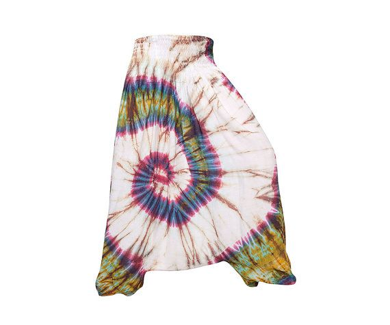 Colorful Tie Dye Thai Harem Pants by AsianCraftShop on Etsy, $40.00