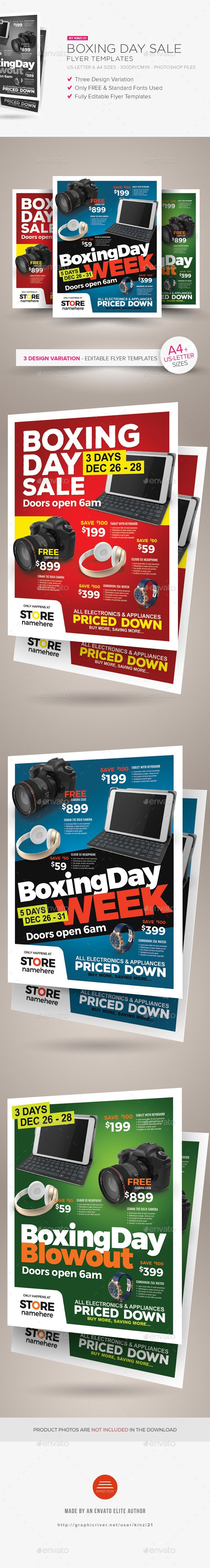 Boxing Day Sale Flyer Templates  — PSD Template #big sale #leaflet • Download ➝ https://graphicriver.net/item/boxing-day-sale-flyer-templates/18464467?ref=pxcr