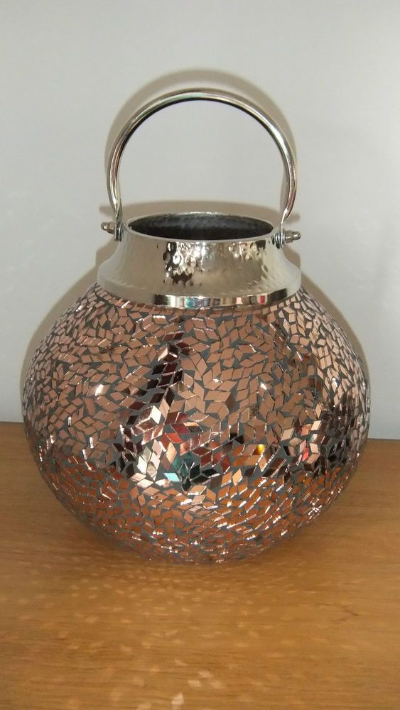 Candle Holder Lantern Moroccan Style Mosaic Copper