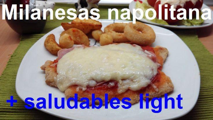 Milanesa a la napolitana al Horno (sin freír, mas sanas, menos calorías,...