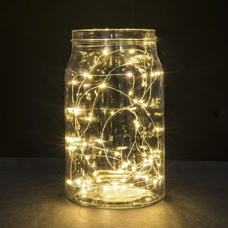 LED Starry String Lights Fairy Micro LEDs Copper Wire, Battery Powered by 2x CR2032 for Party Christmas Wedding NKD 1m/2m