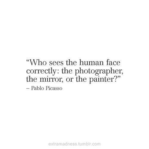 mirror, quote, and Pablo Picasso -kuva