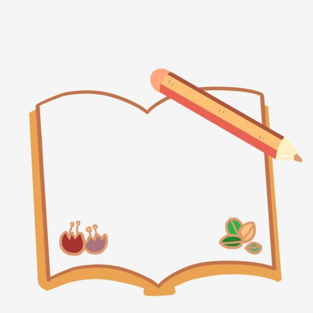 كتاب قلم رصاص إطار توضيح قلم الأصفر الإطار Png وملف Psd للتحميل مجانا Frame Illustration Art