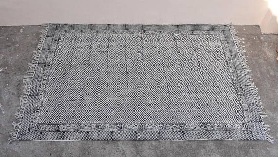 Large 10x14 Ft Indian Rugs Cotton Rug Woven Rug Area Rugs Decor Rug Rustic Rugs Decorative Rug Rugs Bohemian Rugs Indian Rugs Rustic Rugs Cotton Rug Rugs On Carpet