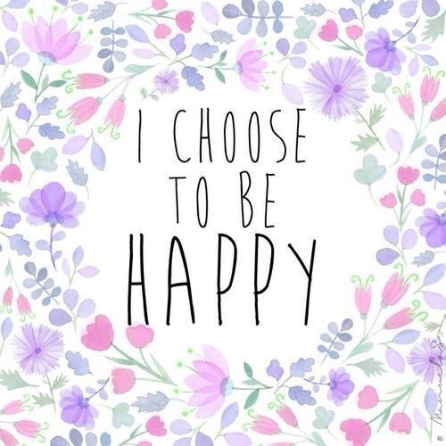 """I Choose To Be Happy"" canvas for my dream room"