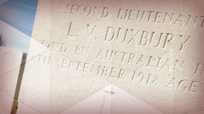 ANZAC -  Lucinda's trip was a chance to tell the story of one soldier who never had a chance to tell his own.