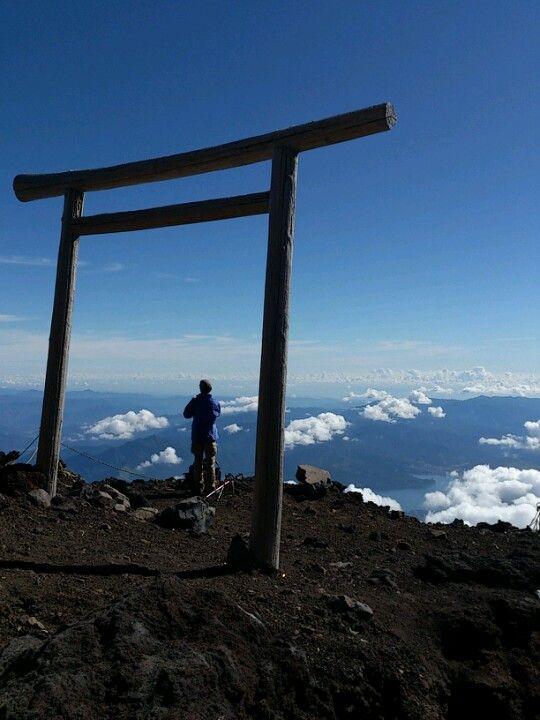 富士山 最高点 剣ヶ峰 標高3776m în 富士宮市, 静岡県